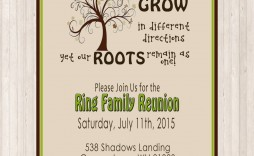 002 Fascinating Family Reunion Flyer Template Example  Templates Free For