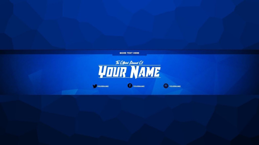 002 Fascinating Free Channel Art Template Design Large
