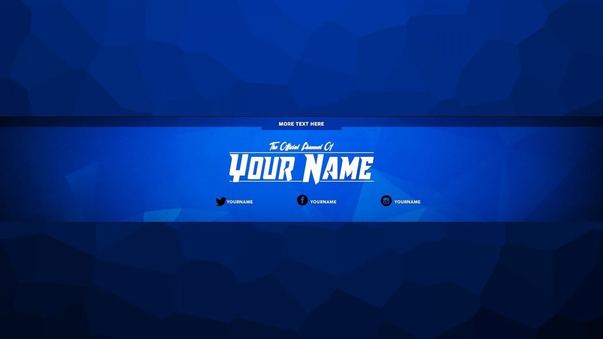 002 Fascinating Free Channel Art Template Design 1920