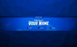 002 Fascinating Free Channel Art Template Design