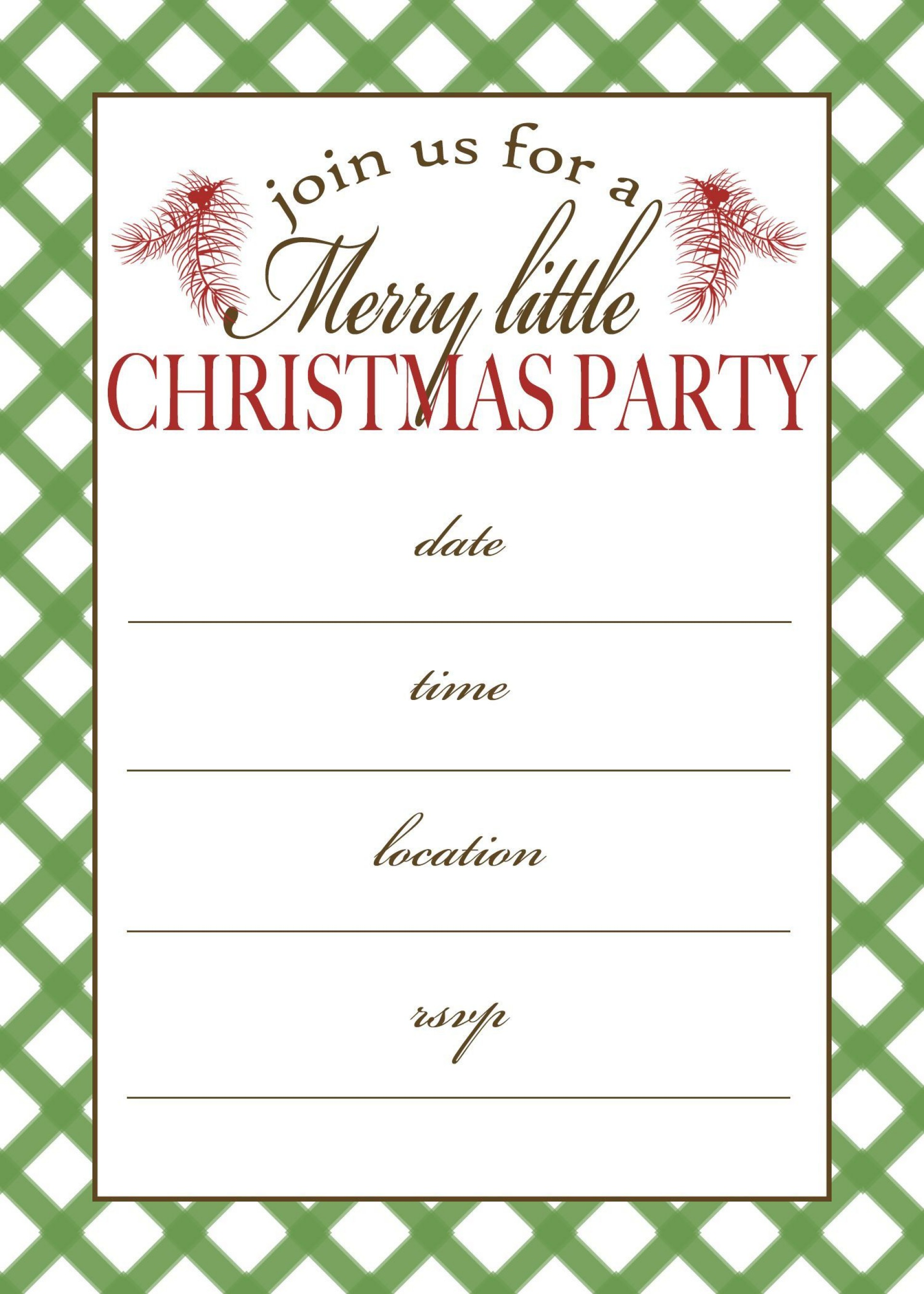 002 Fascinating Free Holiday Party Invitation Template For Word Photo 1920