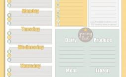 002 Fascinating Free Printable Weekly Meal Plan Template Example  Planning Worksheet