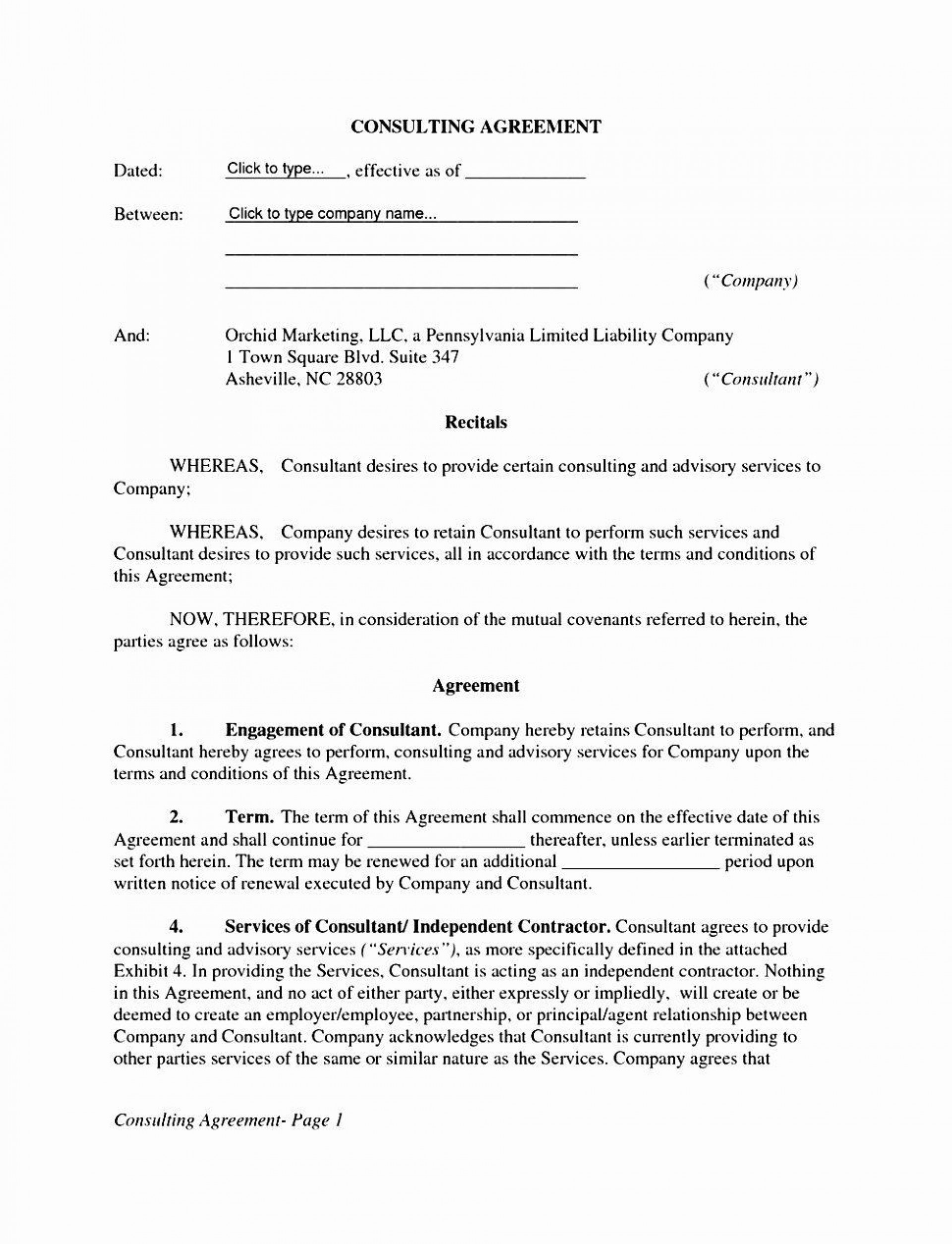 002 Fascinating Free Service Contract Template Doc Design 1920