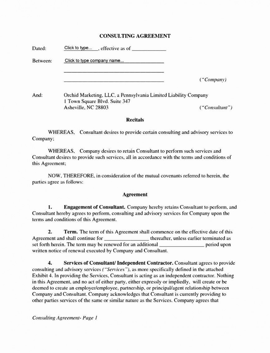 002 Fascinating Free Service Contract Template Doc Design 868