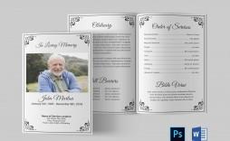 002 Fascinating Funeral Program Template Free Inspiration  Download Memorial
