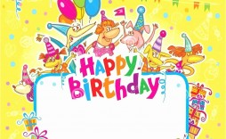 002 Fascinating Happy Birthday Card Template For Word Image