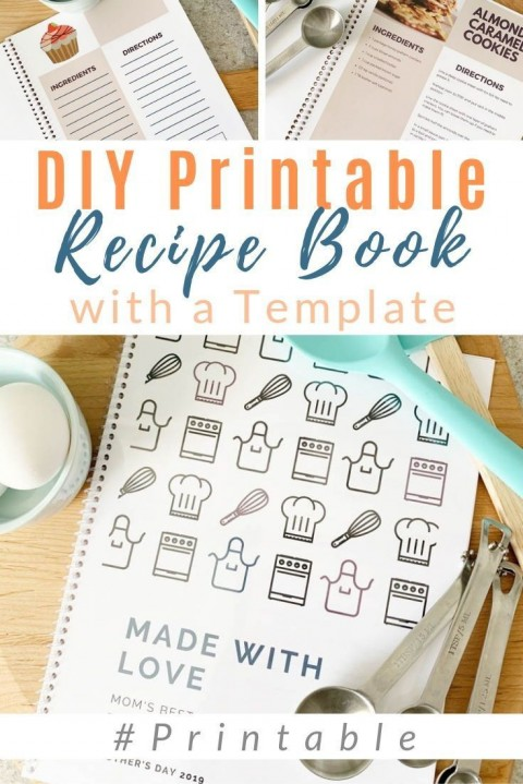002 Fascinating Make Your Own Cookbook Template Free Photo  Download480