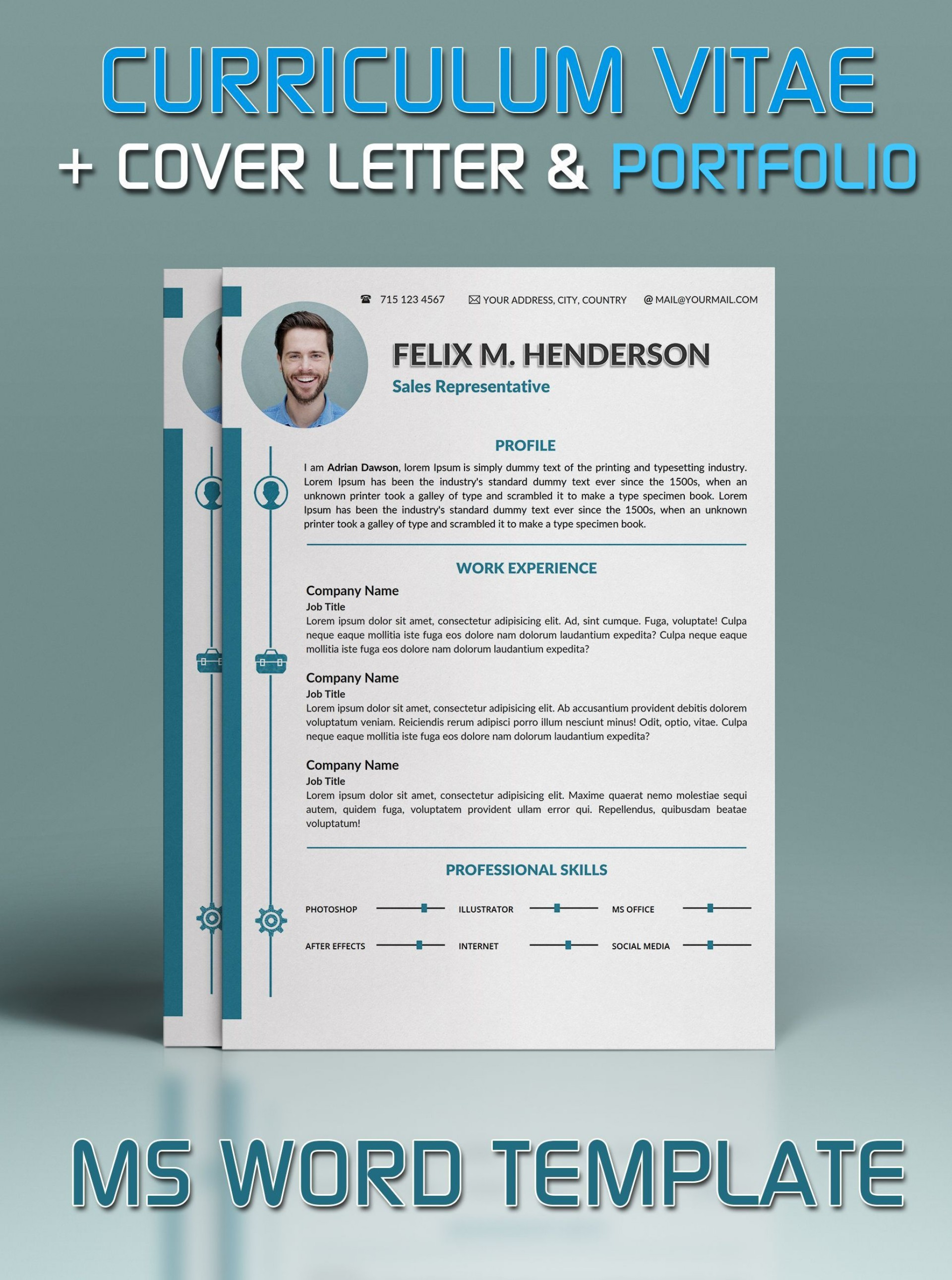 002 Fascinating Microsoft Word Portfolio Template Idea  Career Professional Free Download1920