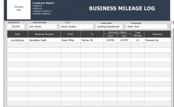 002 Fascinating Mileage Tracker Form Excel High Definition
