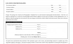 002 Fascinating Photography Contract Template Pdf Design  Free Portrait