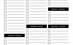 002 Fascinating Printable Grocery List Template Design  Shopping Microsoft Free