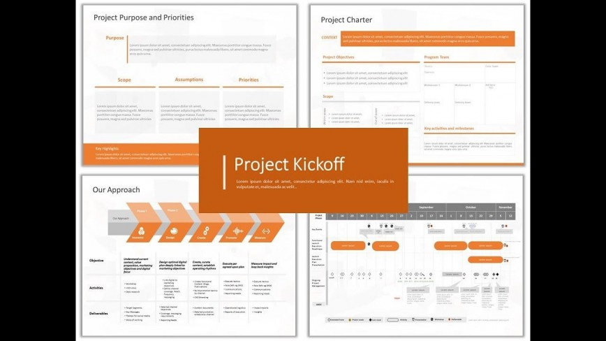 002 Fascinating Project Kickoff Meeting Powerpoint Template Ppt Design  Kick Off Presentation868