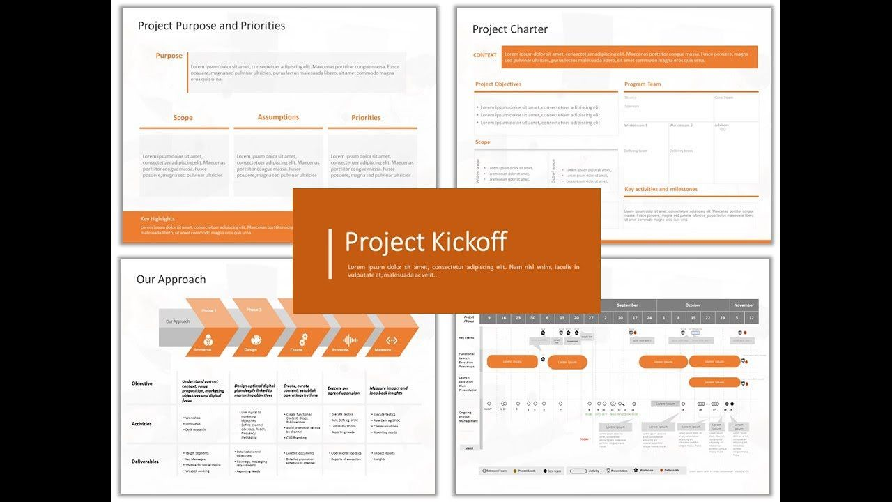 002 Fascinating Project Kickoff Meeting Powerpoint Template Ppt Design  Kick Off PresentationFull