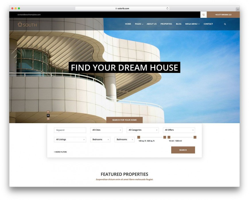 002 Fascinating Real Estate Agent Website Template Design  Templates Company Free Download Agency