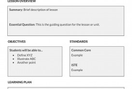 002 Fascinating Simple Lesson Plan Template Sample  Basic Format For Preschool Doc Kindergarten