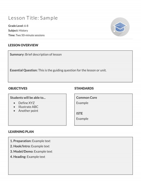 002 Fascinating Simple Lesson Plan Template Sample  Basic Format For Preschool Doc Kindergarten480