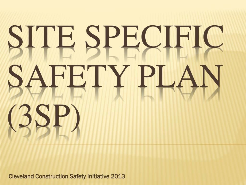 002 Fascinating Site Specific Safety Plan Template Osha Idea Full