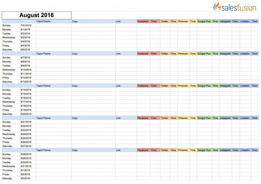 002 Fascinating Social Media Editorial Calendar Template Concept  Content Excel 2020 Free DownloadLarge