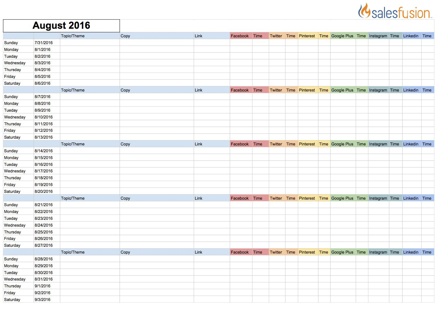 002 Fascinating Social Media Editorial Calendar Template Concept  Content Excel 2020 Free DownloadFull