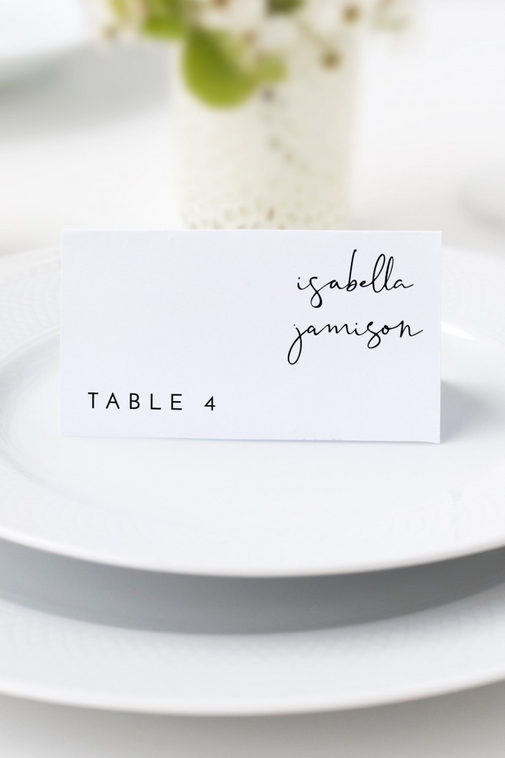 002 Fascinating Wedding Name Card Template Picture  Free Download Design Sticker Format728