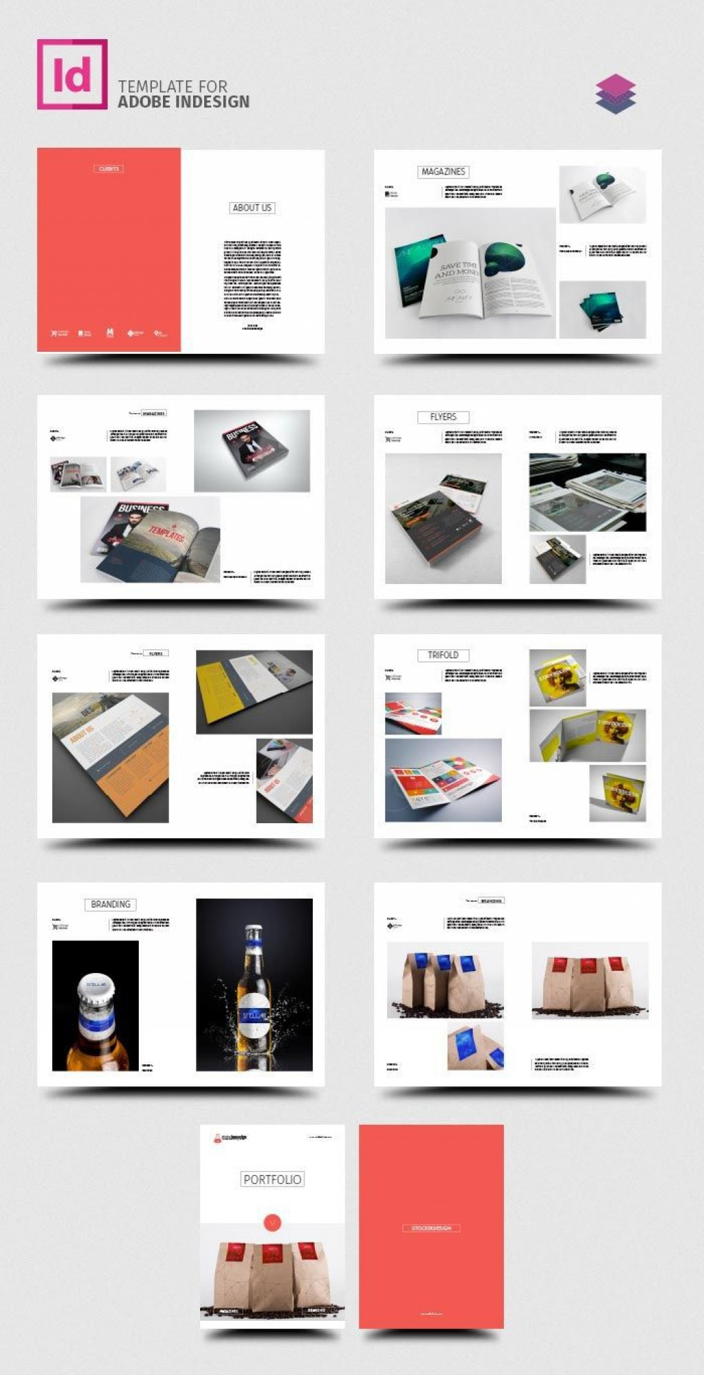 002 Fearsome Adobe Indesign Brochure Template Free Download High Def Large