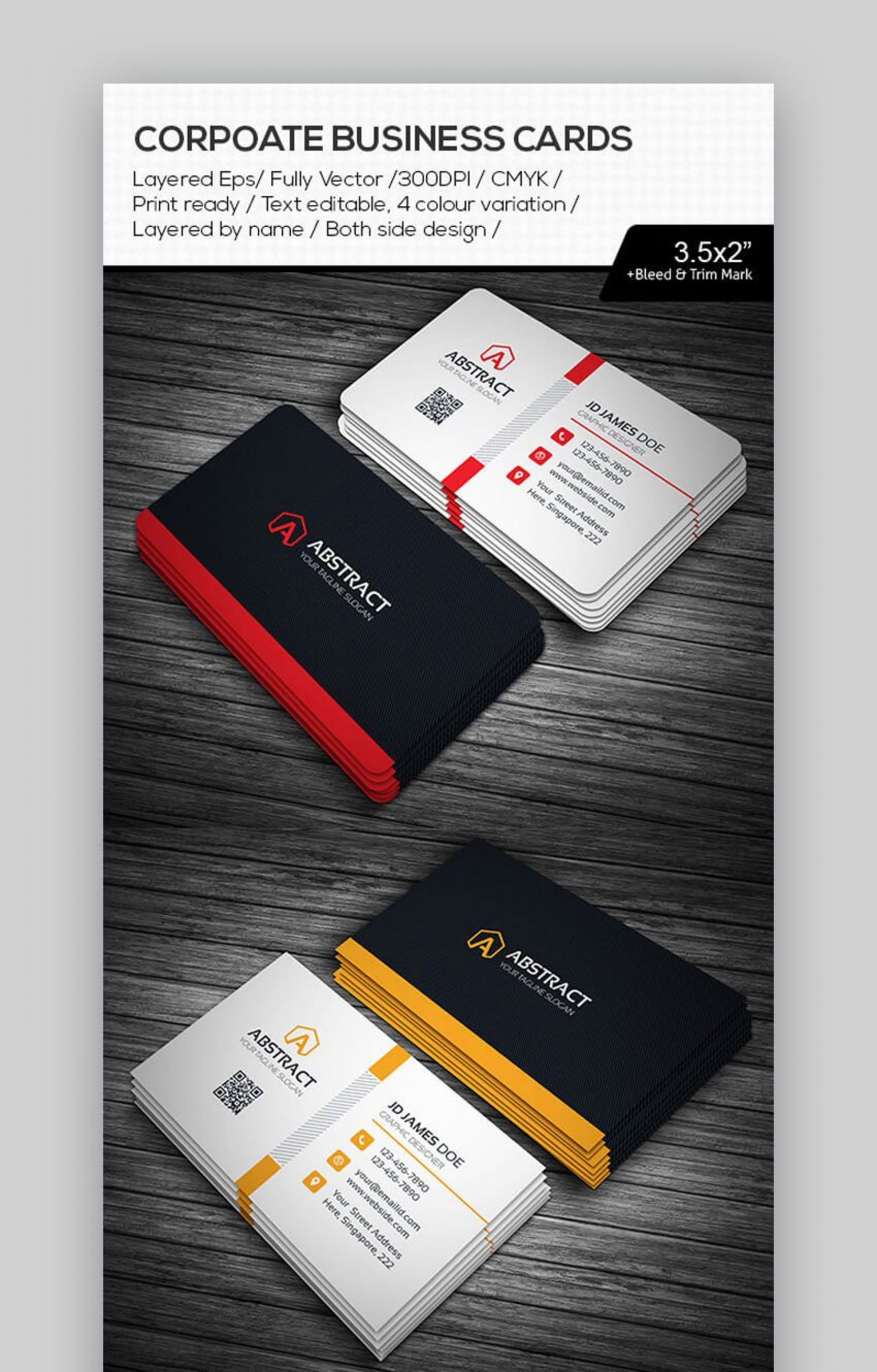 002 Fearsome Busines Card Format Indesign Idea 1920