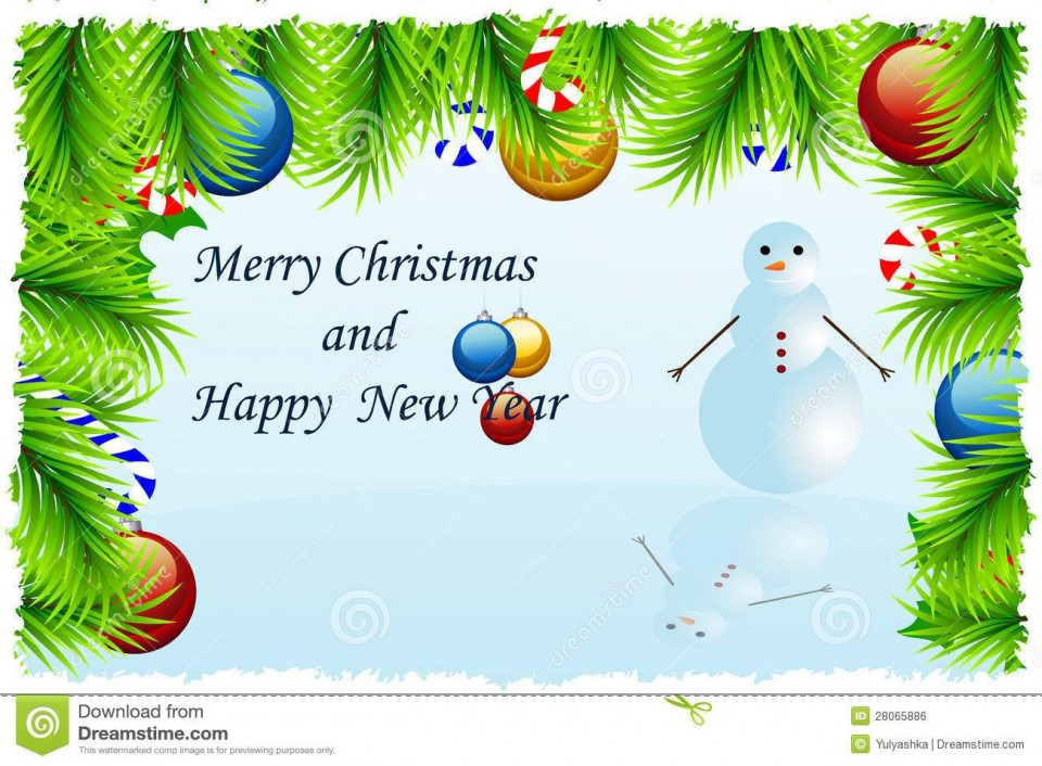 002 Fearsome Christma Card Template Free Download Inspiration  Photo Xma Place960