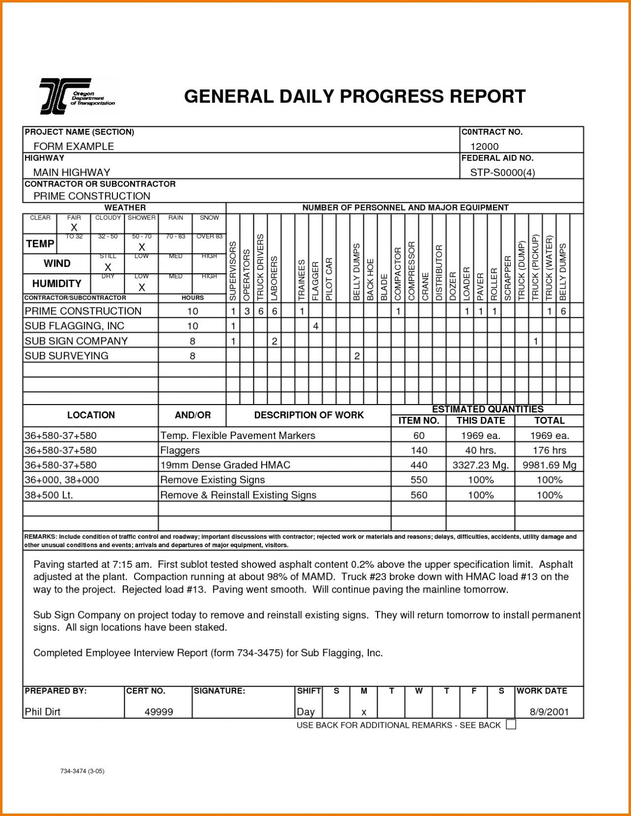 002 Fearsome Construction Daily Report Template Design  Free Excel Work FormatFull