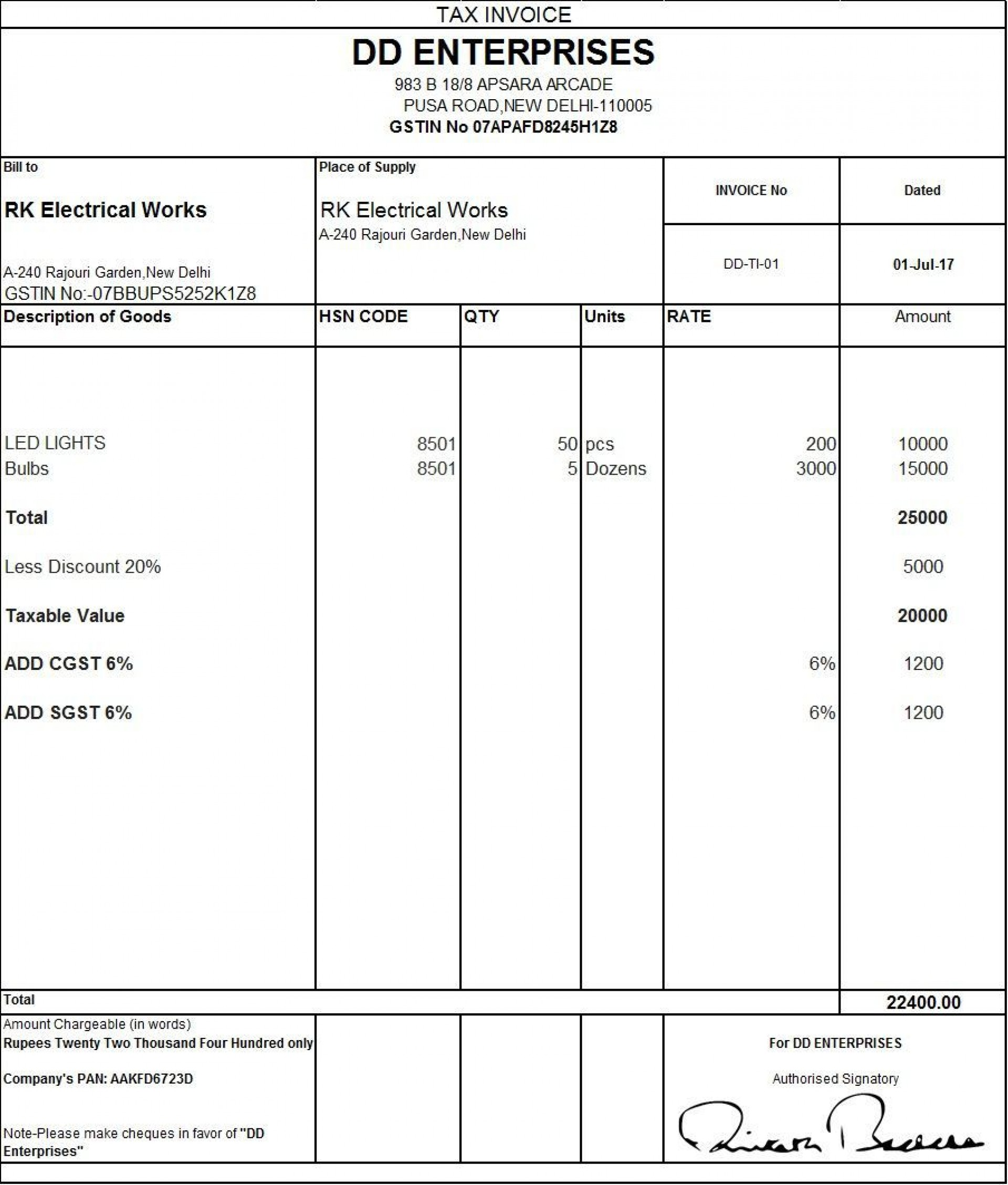 002 Fearsome Excel Gst Invoice Format Download Idea  In Pdf Tally Tax Free Sheet1920