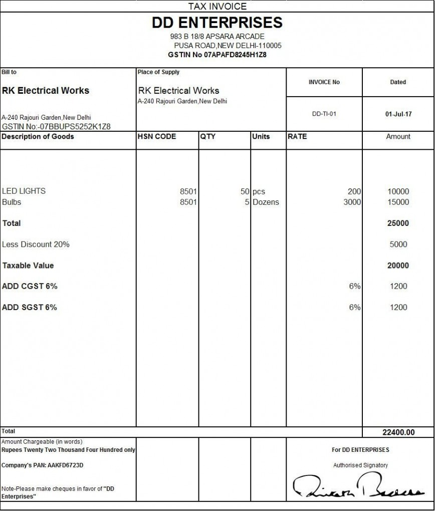 002 Fearsome Excel Gst Invoice Format Download Idea  Non In Pdf Tally Tax Sheet Free