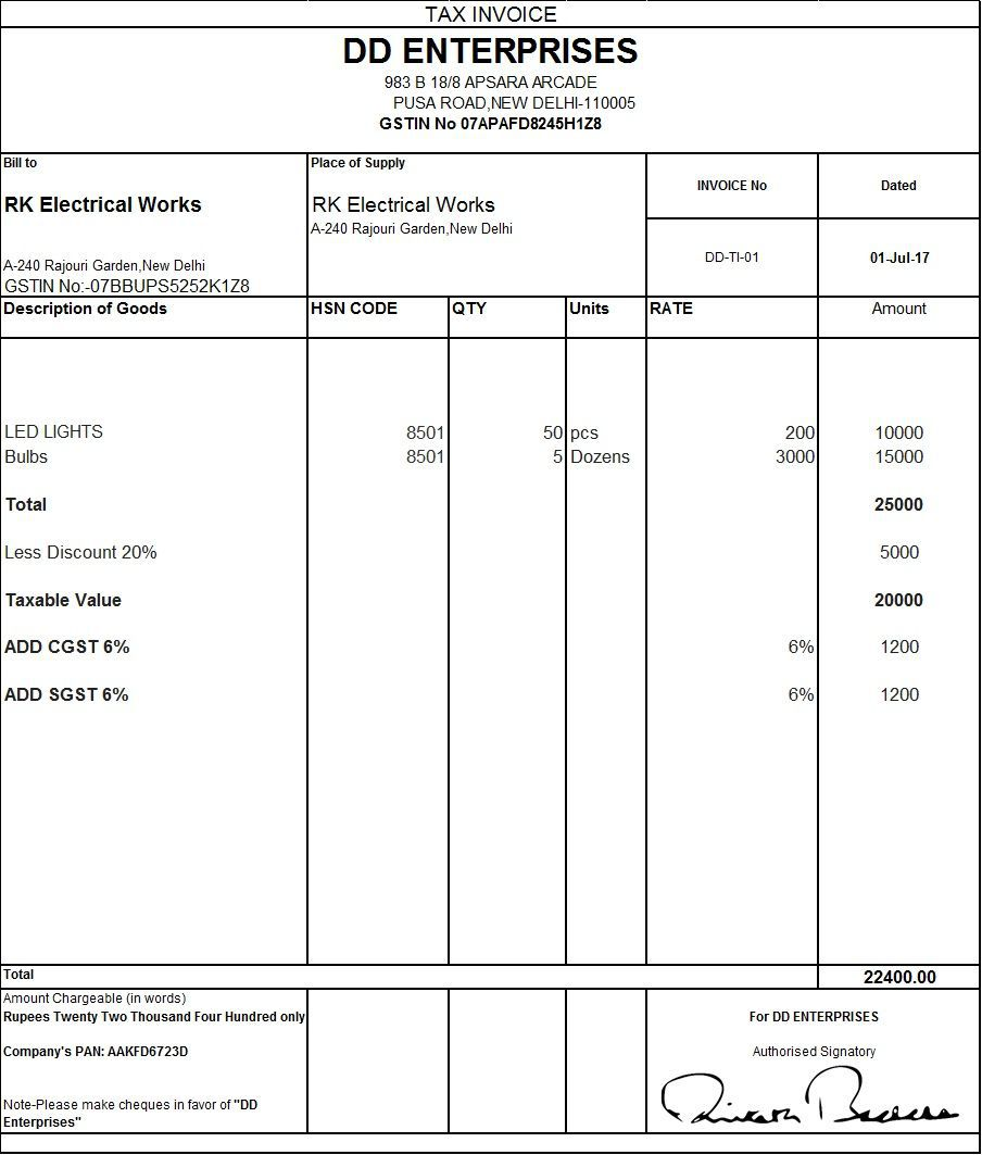002 Fearsome Excel Gst Invoice Format Download Idea  In Pdf Tally Tax Free SheetFull