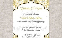 002 Fearsome Free Printable 50th Wedding Anniversary Invitation Template Concept  Templates