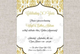 002 Fearsome Free Printable 50th Wedding Anniversary Invitation Template Concept