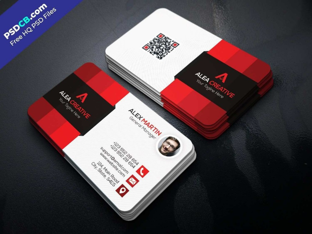002 Fearsome Free Printable Busines Card Template Download Idea Large