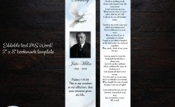 002 Fearsome In Loving Memory Bookmark Template Free Download Highest Clarity