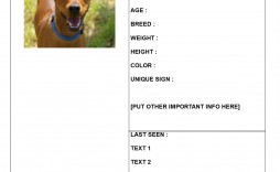 002 Fearsome Missing Pet Poster Template Highest Clarity  Uk Word