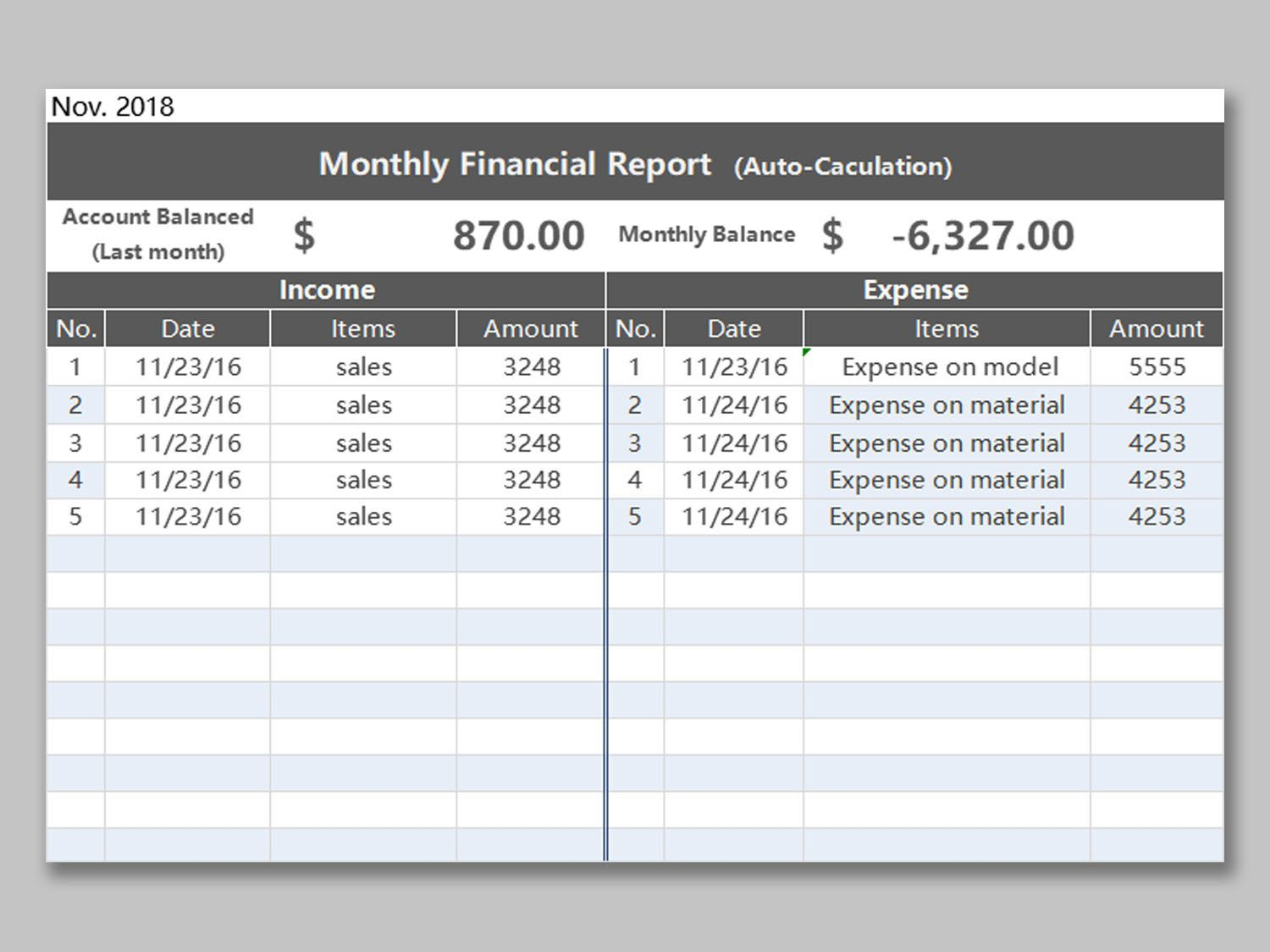 002 Fearsome Monthly Income Statement Format Excel Free Download Example Full