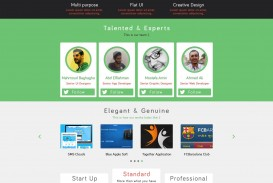002 Fearsome One Page Website Template Psd Free Download Picture