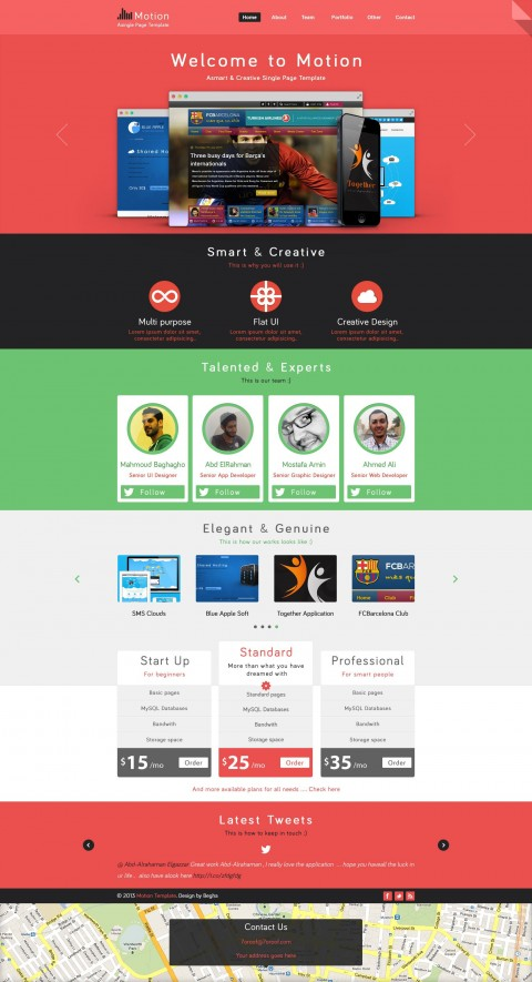 002 Fearsome One Page Website Template Psd Free Download Picture 480