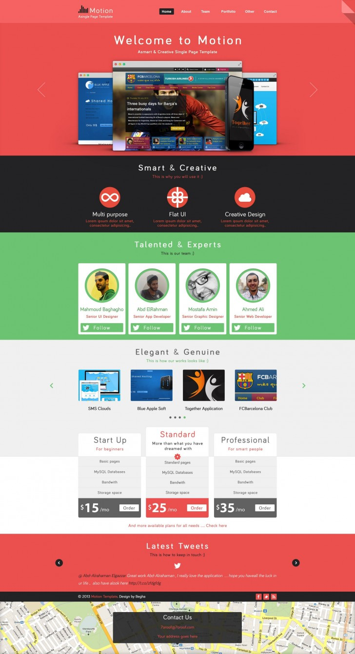 002 Fearsome One Page Website Template Psd Free Download Picture 728