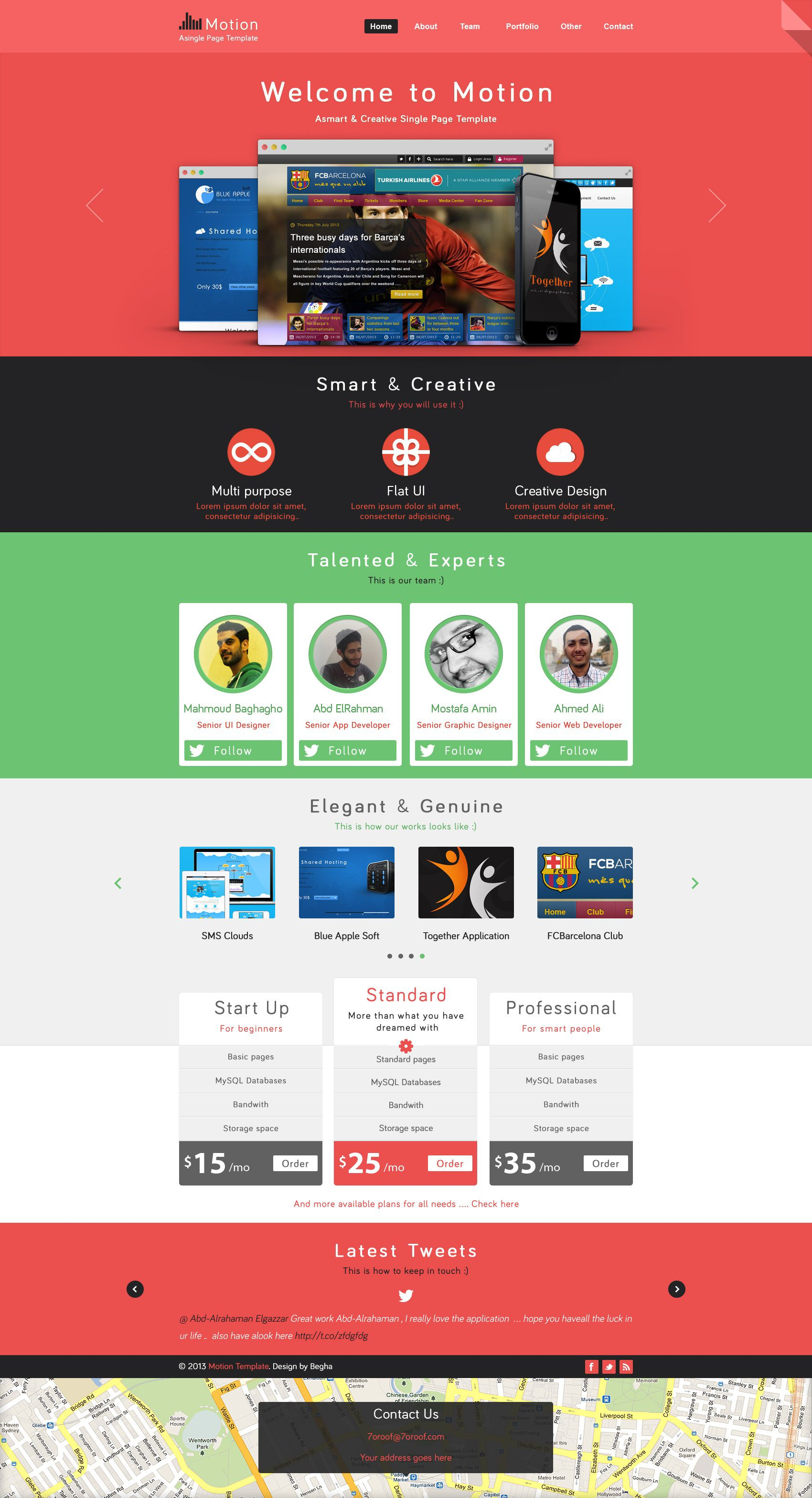 002 Fearsome One Page Website Template Psd Free Download Picture Full