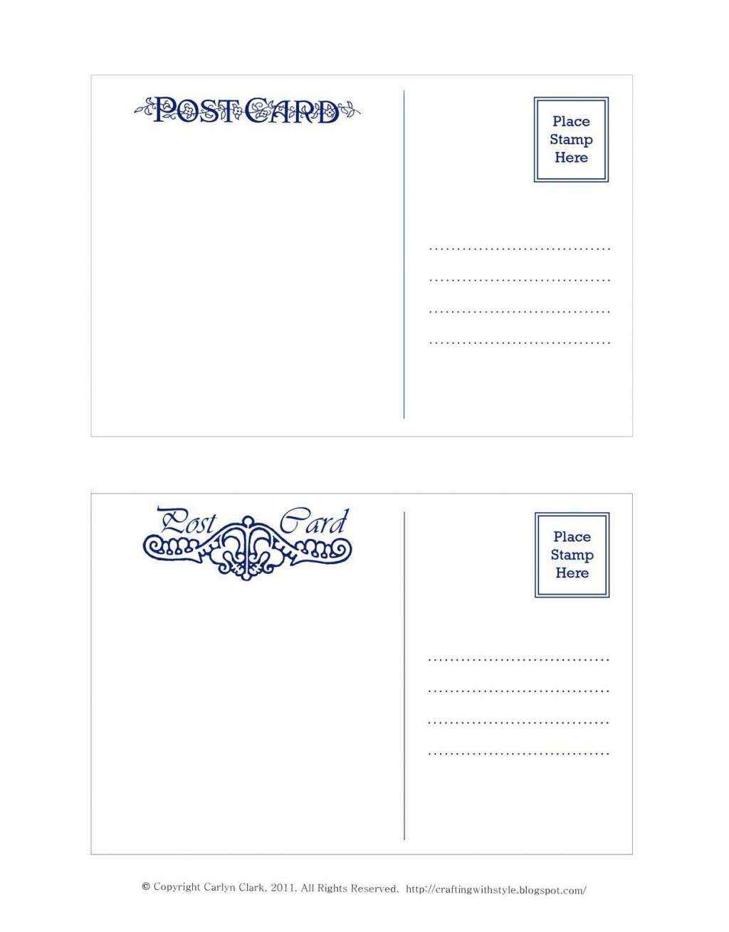 002 Fearsome Postcard Front And Back Template Free Picture  To SchoolLarge