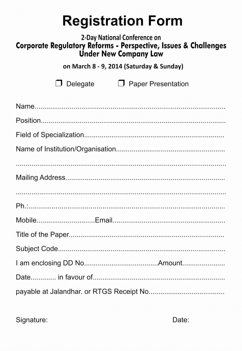 002 Fearsome Registration Form Template Word Design  Conference FreeLarge
