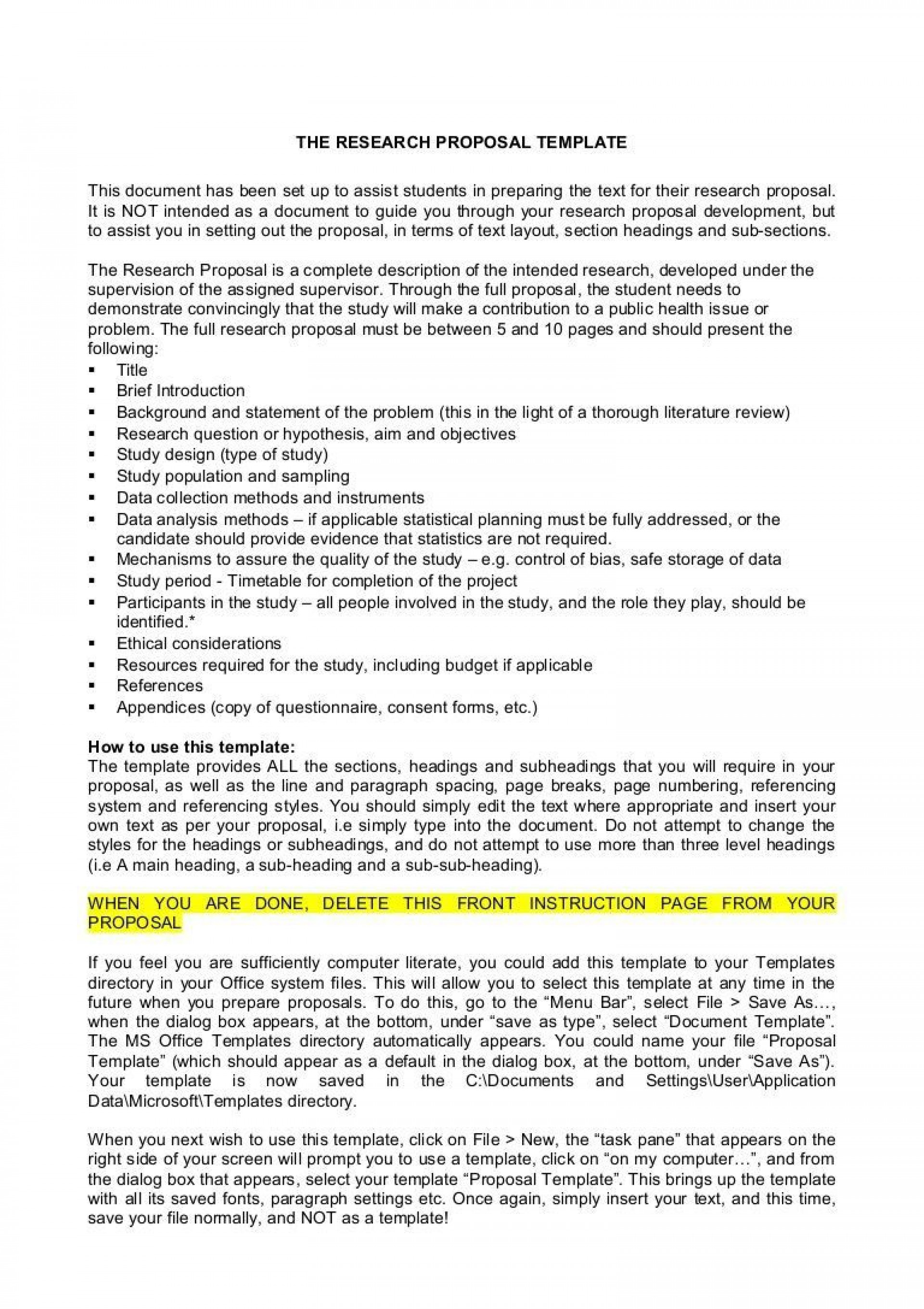 002 Fearsome Research Topic Proposal Template Highest Quality  Format Paper Example1920