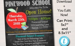 002 Fearsome School Open House Flyer Template Highest Quality  Free Microsoft High