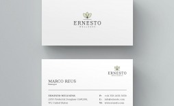 002 Fearsome Simple Busines Card Template Microsoft Word Image