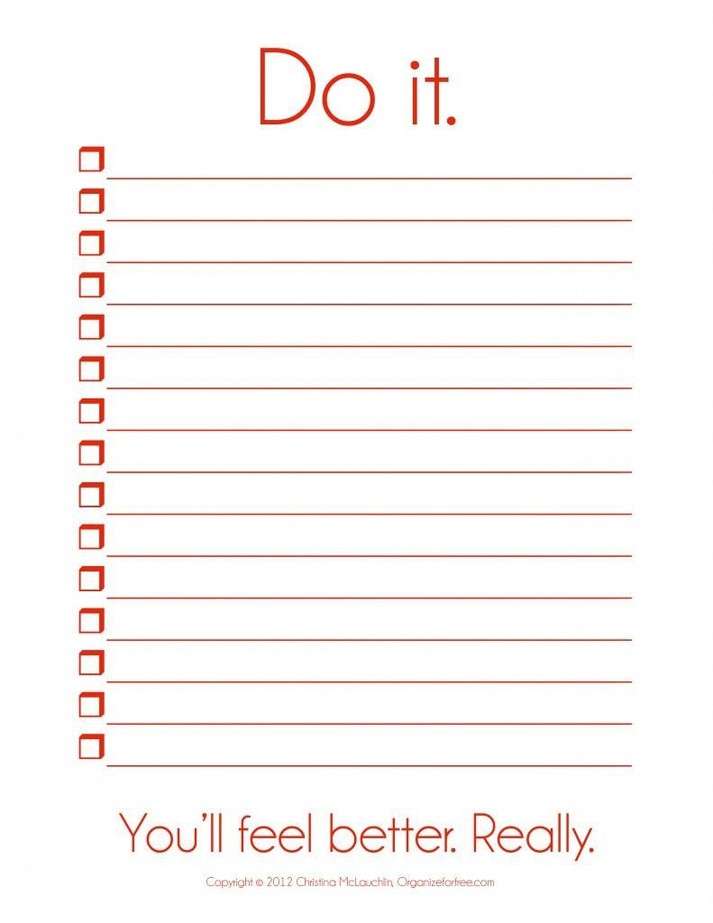 002 Fearsome To Do List Template Free Idea Full