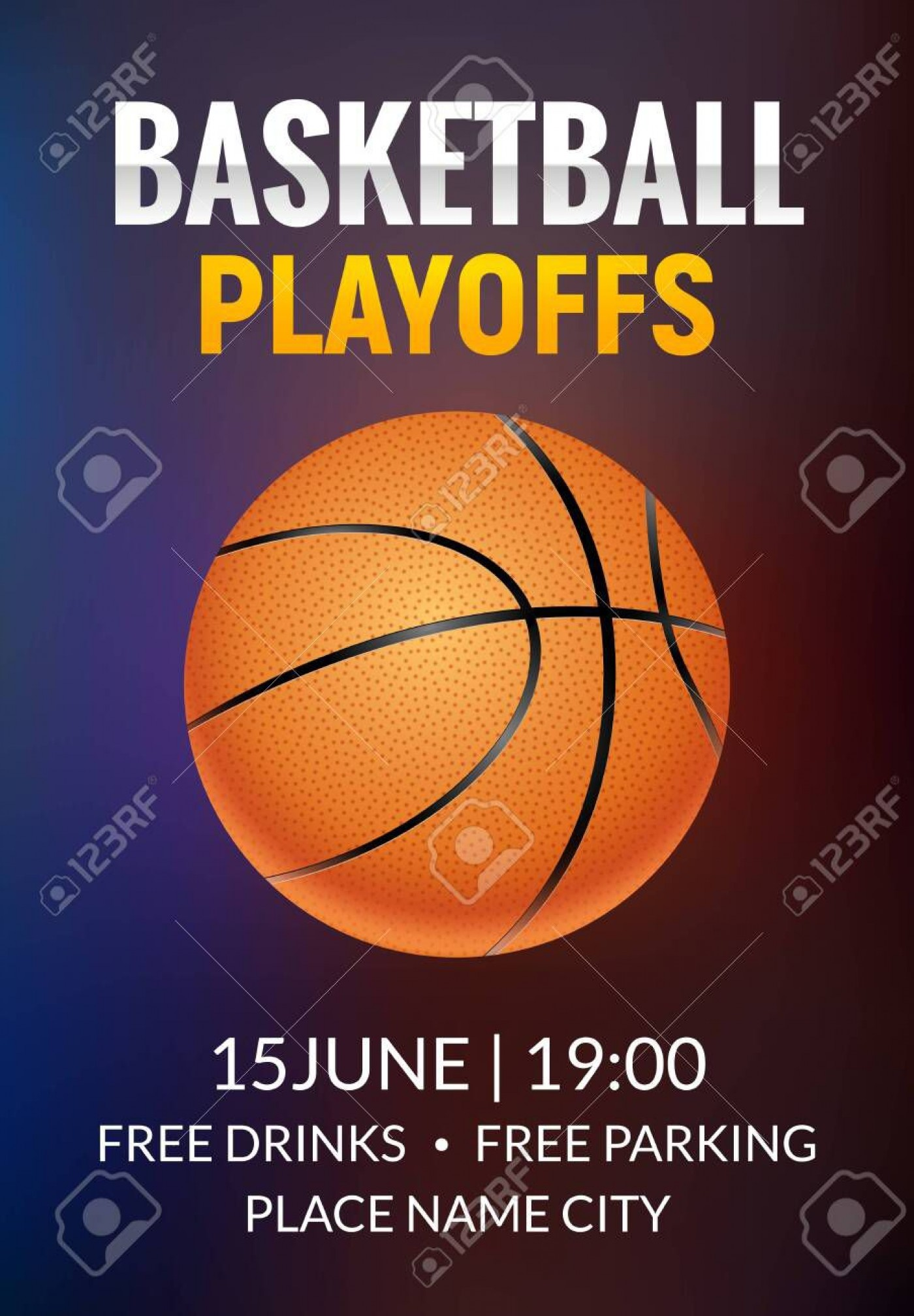002 Formidable Basketball Tournament Flyer Template High Resolution  3 On Free1400
