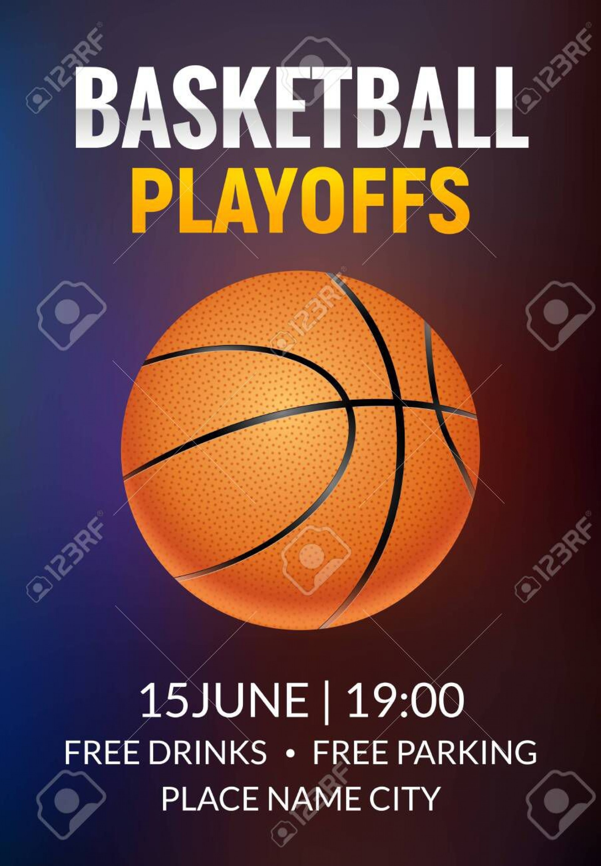 002 Formidable Basketball Tournament Flyer Template High Resolution  3 On Free1920