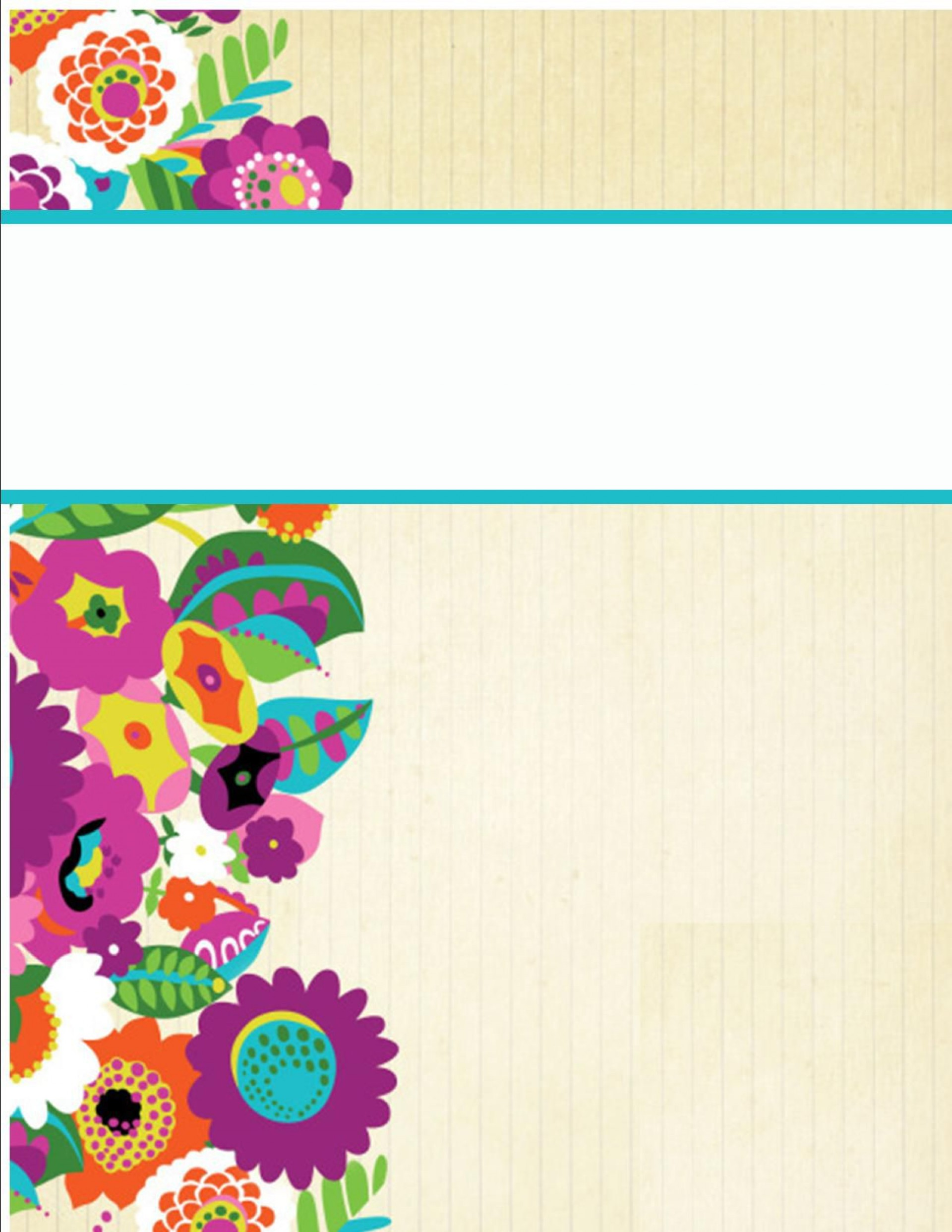 002 Formidable Cute Binder Cover Template Free Printable Image 1920